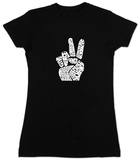 Juniors: Give Peace A Chance T-shirts