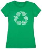 Juniors: Recycle Symbol T-Shirts