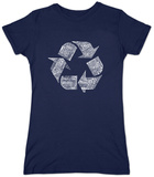 Juniors: Recycle Symbol T-Shirt