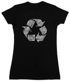 Juniors: Recycle Symbol T-shirts