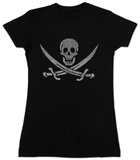 Juniors: Pirate Flag T-Shirt