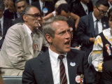 Actor Paul Newman and Playwright Arthur Miller Attending the Democratic National Convention Lámina fotográfica de primera calidad