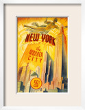 New York The Wonder City Poster