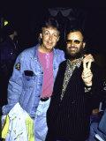 Former Beatles Paul Mccartney and Ringo Starr Fototryk i høj kvalitet