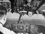 Pilot Moon F. Chin, Controlling the C-46 Xt 508 During Survey Flight to Amne Machin Lámina fotográfica de primera calidad