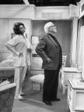 Actor Charlie Chaplin Directing Actress Sophia Loren in 