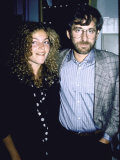 Actress Amy Irving and Husband, Director Producer Steven Spielberg Fototryk i høj kvalitet af Ann Clifford