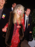 Lead Singer of Rock Group Fleetwood Mac, Stevie Nicks Fototryk i høj kvalitet