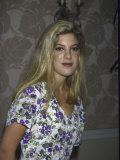 Actress Tori Spelling Fototryk i høj kvalitet
