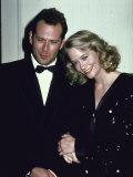 Actors Bruce Willis and Cybill Shepherd Fototryk i høj kvalitet af Ann Clifford