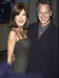 Actress Tori Spelling and Her Brother, Actor Randy Spelling Fototryk i høj kvalitet af Mirek Towski