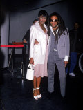 Model Naomi Campbell and Singer Lenny Kravitz Premium fotoprint van Dave Allocca