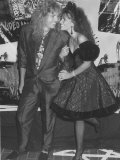 Rock Star David Coverdale and Wife, Actress Tawny Kitaen at the Mtv Video Awards Fototryk i høj kvalitet af Kevin Winter