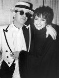 Singers Elton John and Liza Minnelli Backstage at Madison Square Garden before Elton's Performance Fototryk i høj kvalitet af David Mcgough
