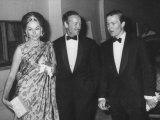 Actor David Niven with Wife and Son on their Way to Red Cross Benefit Ball Given in Monaco Lámina fotográfica de primera calidad
