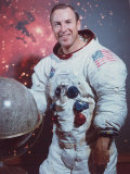 Astronaut James Lovell in Apollo Spacesuit, Photographic Print