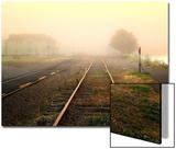 Foggy on the Tracks Poster by Jody Miller