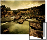 Water Flowing through Rocky Riverbed Posters by Jan Lakey