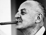 Producer Darryl F. Zanuck, with Big Cigar in His Mouth, on the Set of Film 