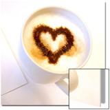 Coffee Heart Print by Judith Bartos