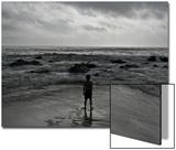 Child Standing at the Edge of Tide Posters av Krzysztof Rost