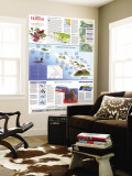 1995 Rediscovering Hawaii Map Wall Mural by  National Geographic Maps