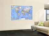 1975 Political World Map Wall Mural