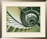 The Spiral Staircase at the Ponce Deleon Inlet Lighthouse,Daytona Beach, Florida, USA Prints by Richard Cummins