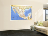 1973 Mexico Map Wall Mural