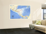 1973 Central America Map Wall Mural by  National Geographic Maps