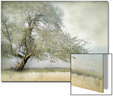 Tree in Field of Flowers Kunstdruck von Mia Friedrich