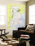 1975 Close-up USA, Western New England Map Wall Mural