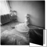 Pinhole Camera Shot of Sitting Topless Woman in Hoop Skirt Prints by Rafal Bednarz
