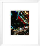 Lights of Times Square Reflected on Trunk of Limousine, New York City, New York, USA Print by Angus Oborn