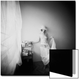 Pinhole Camera Shot of Standing Topless Woman in Hoop Skirt Print by Rafal Bednarz