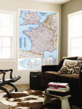 1989 France Map Wall Mural by  National Geographic Maps