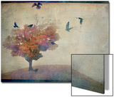 Oversized Crows Flying from Tree Poster von Mia Friedrich