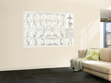 Heavens Star Chart 1970 Wall Mural