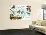 1996 Indonesia Theme Map Wall Mural by  National Geographic Maps