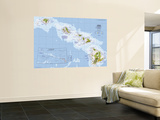 1976 Close-up USA, Hawaii Map Wall Mural by  National Geographic Maps
