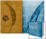 Contrasting Leaves in Gold and Blue Prints by Robert Cattan