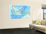 1996 Indonesia Map Wall Mural