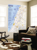 Holy Land Map 1989 Wall Mural