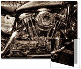 V-Twin Motorcyle Engine Print by Stephen Arens