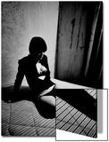 Phil Sharp - Woman in underwear on Bare Mattress Reprodukce
