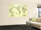 1922 World Map Wall Mural by  National Geographic Maps