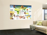 1997 Dawn of Humans Map Wall Mural