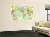 1932 World Map Wall Mural