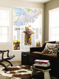 1978 Ontario Great Cities Wilds Within Reach Map Wall Mural by  National Geographic Maps