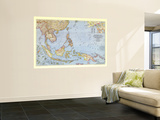 1944 Southeast Asia and the Pacific Islands Map Wall Mural